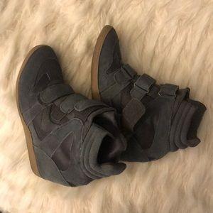 grey Steve Madden wedge sneaker